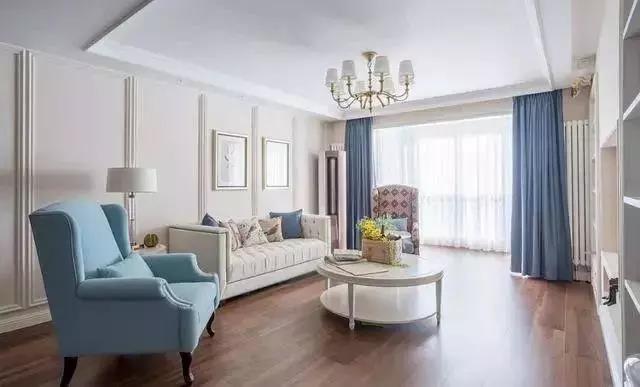 139㎡三居室美式装修风格 简约而时尚