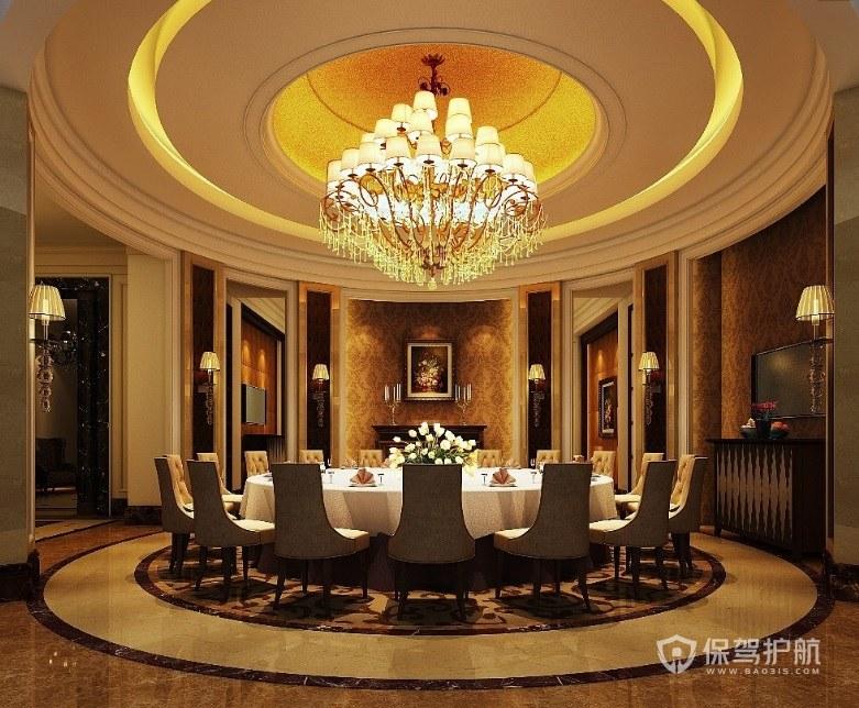 欧式奢华餐厅装修效果图