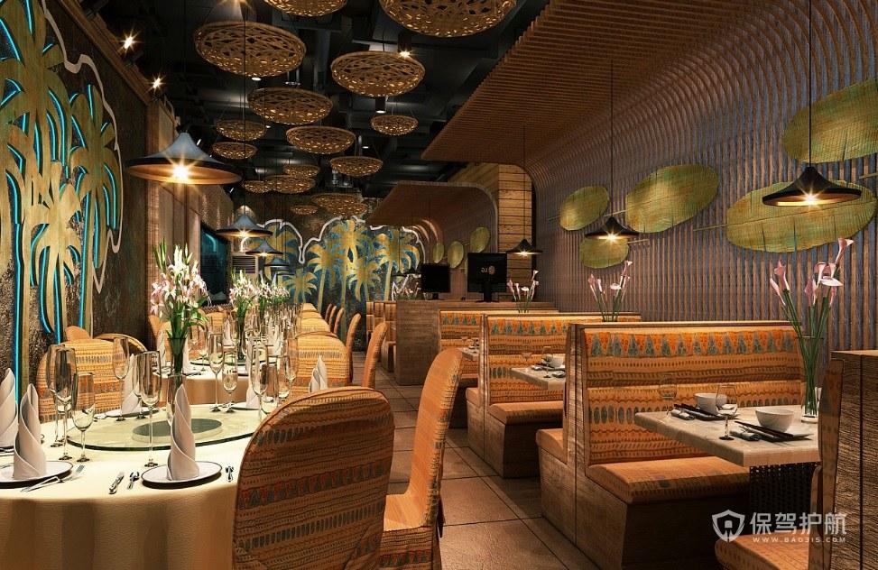 东南亚古典餐厅装修效果图
