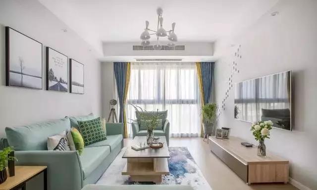 装修设计|108㎡清新北欧风,合理的色彩搭配使居室锦上添花