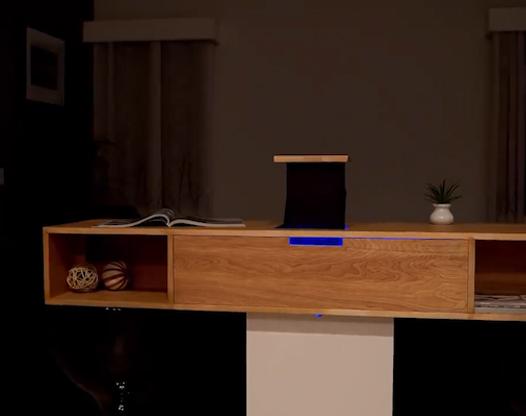 家用投影仪这样设计,还能当柜子