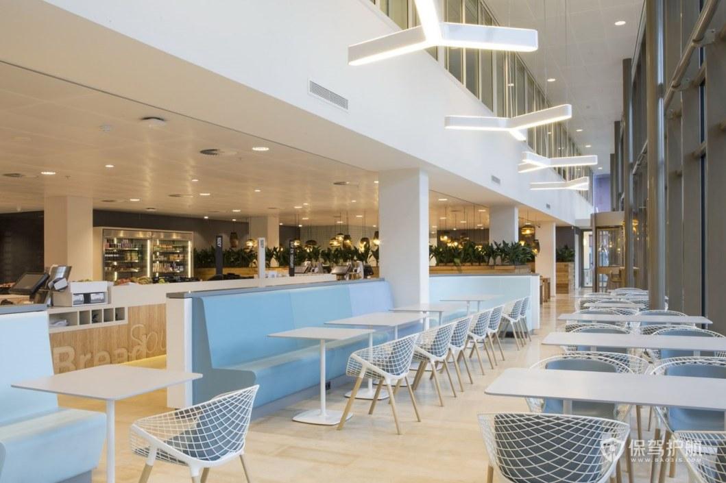小清新风格公司就餐区装修效果图