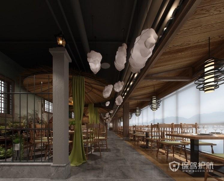 现代古典餐厅装修效果图