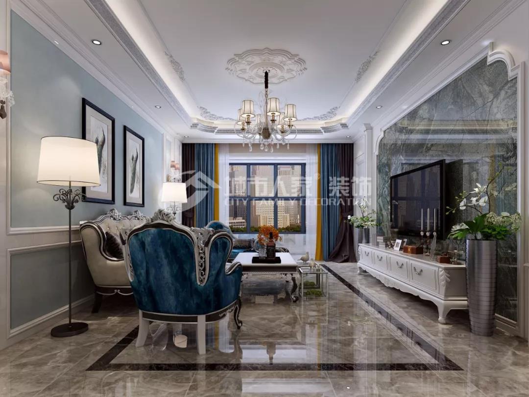 【家·设计】世界公元156㎡欧式古典风格—沉稳大气、宽敞明亮