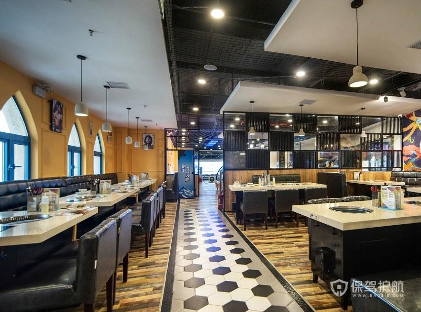 现代混搭餐厅装修效果图