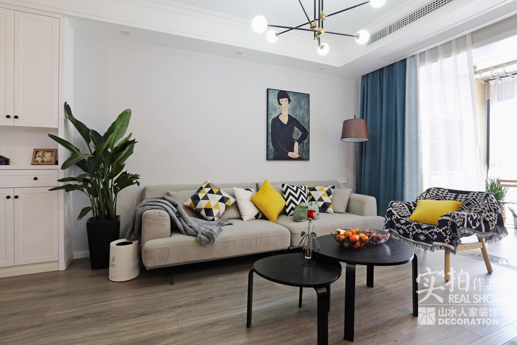 保利海上五月花—92平—三居室—北欧风格