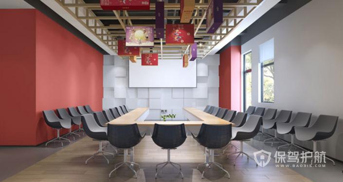 中型會議室裝修效果圖