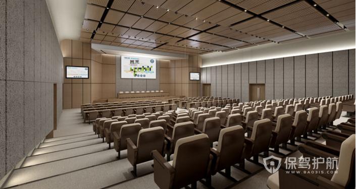 大型办公室会议室装修效果图