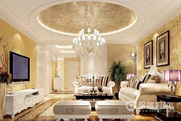 客廳圓形吊頂配什么燈?客廳圓形吊頂裝修要點