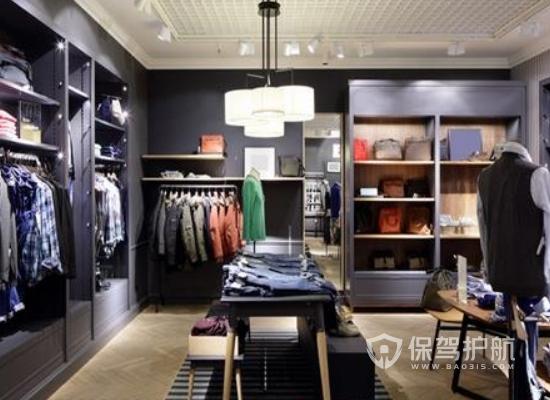 新中式風格服裝店裝修效果圖