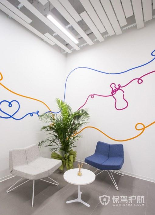 创意简约办公室接待区装修效果图