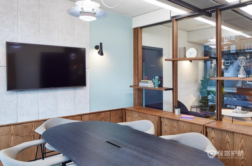 现代风格小型会议室装修效果图