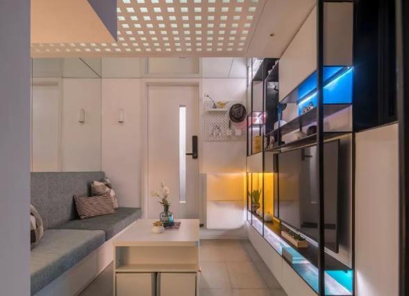 上海11㎡婚房,極限改造,變身小別墅,輕松住4口,還帶室外花園
