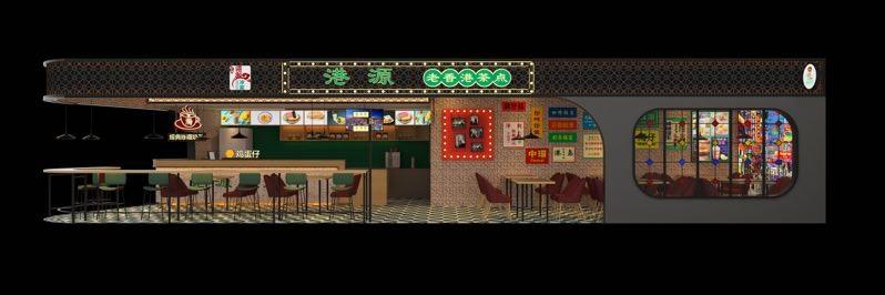 陆川县首家港式装修餐厅装修效果图