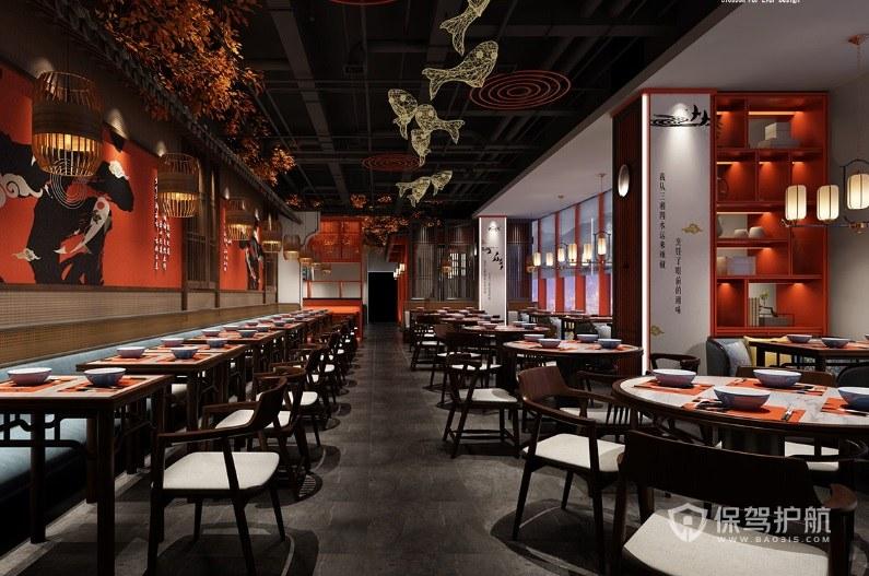 中式簡約餐廳裝修效果圖