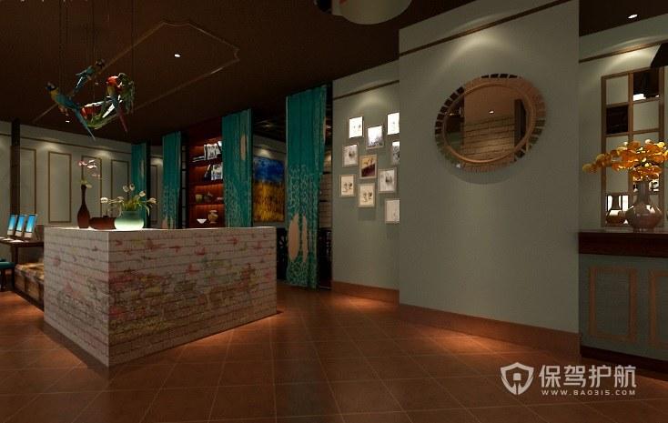 典雅餐廳前臺裝修效果圖