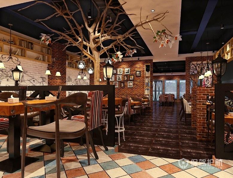 復古創意餐廳裝修效果圖