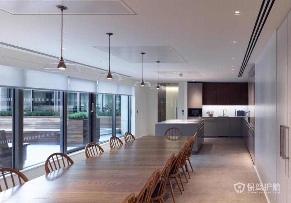 欧式古典风格办公室茶水区装修效果图
