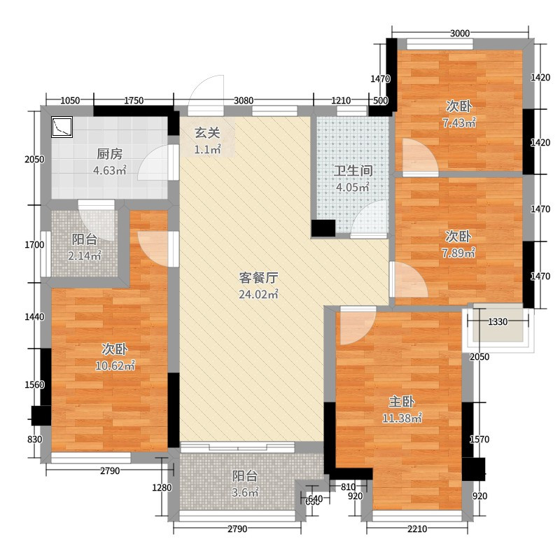 御嶺春天 日式三居室101平 11.6万
