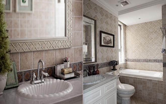 轻度奢华欧式风格卫生间装修效果图
