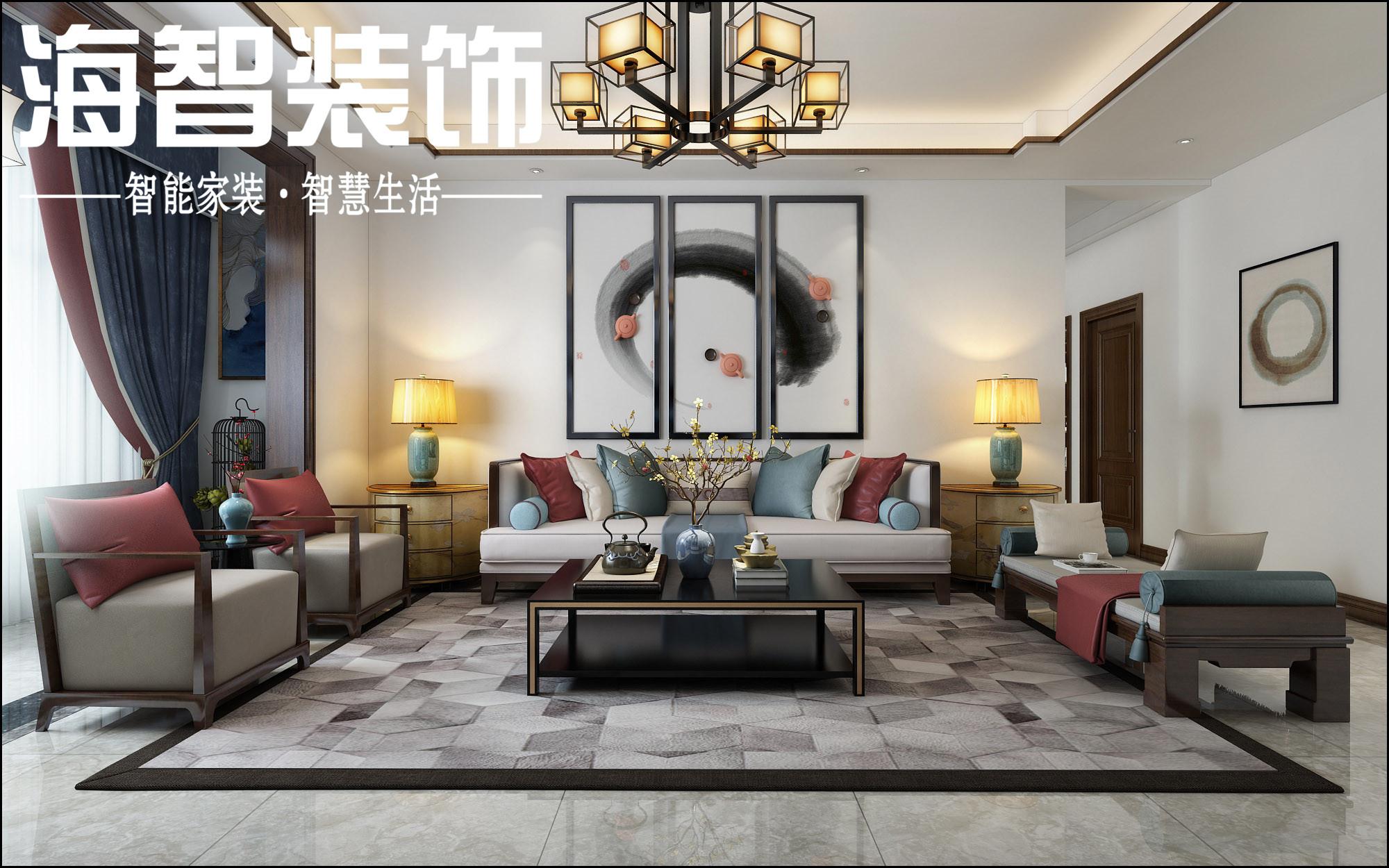 【海智装饰】中泰雅居112新中式古典风格与现代的融合