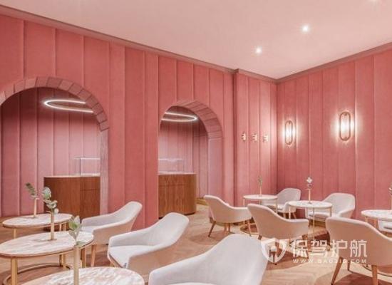 粉色现代风格甜品店装修效果图