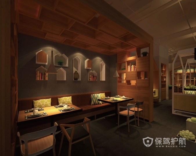 日式简约餐厅装修效果图