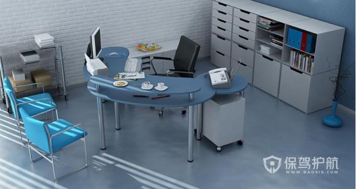 员工特色办公区装修效果图