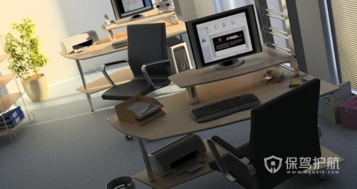 现代开放式办公室装修效果图