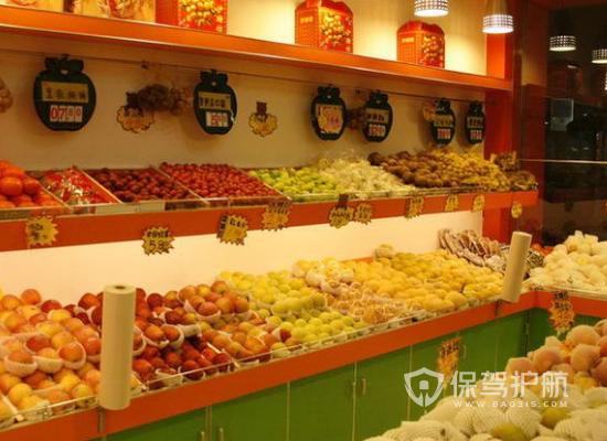 小型现代水果超市装修效果图