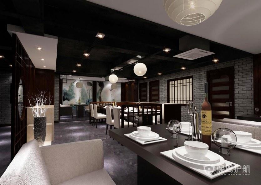 后现代古典餐厅装修效果图