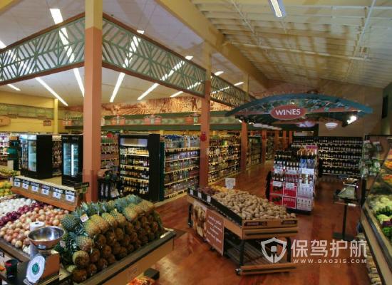 简约风格水果超市装修效果图