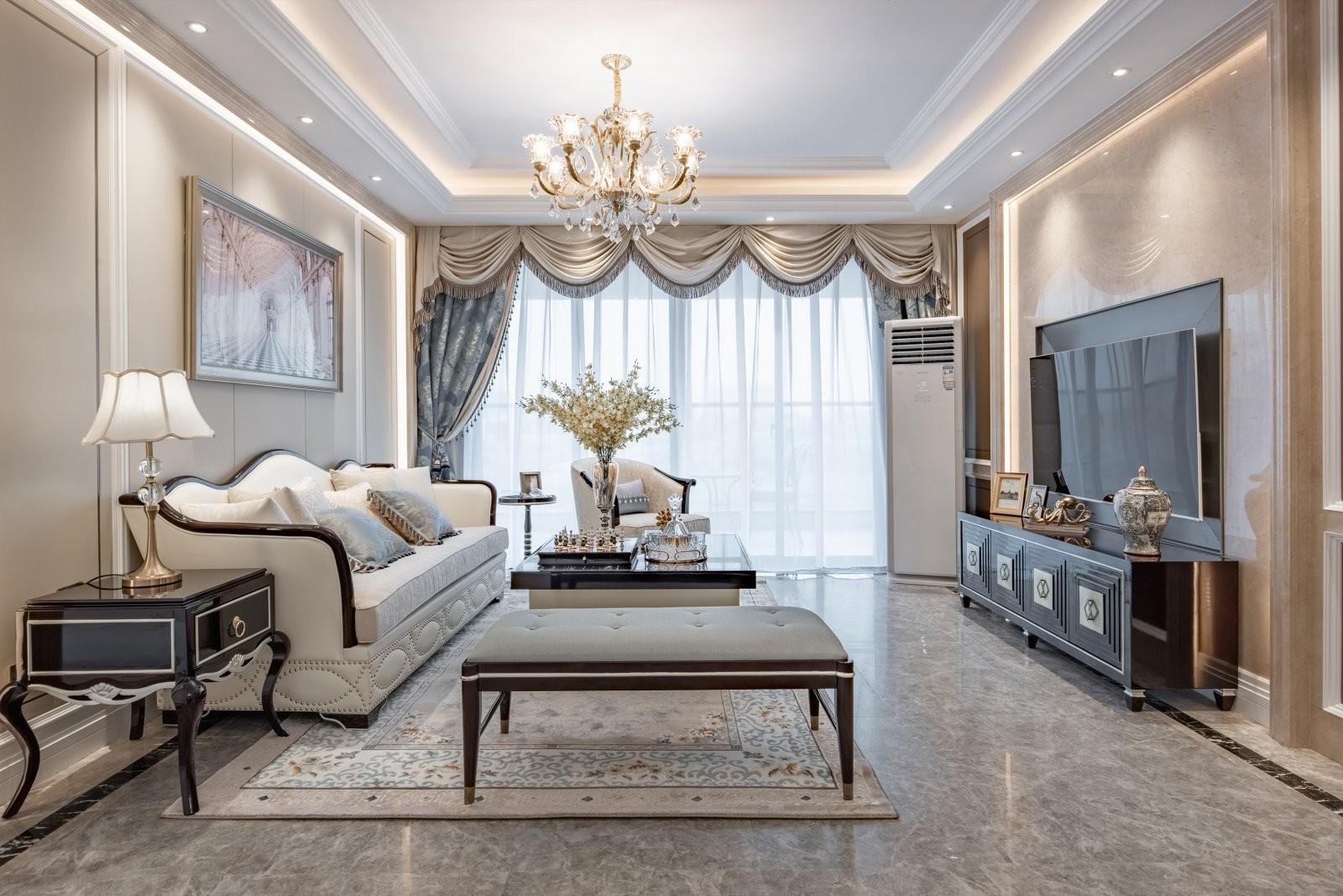 奢华欧式风格雅居四居室装修效果图