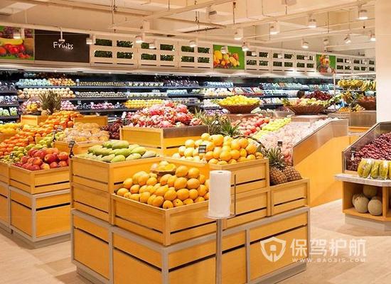 现代简约水果超市装修效果图