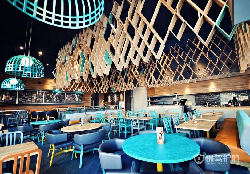 现代创意时尚餐厅装修效果图