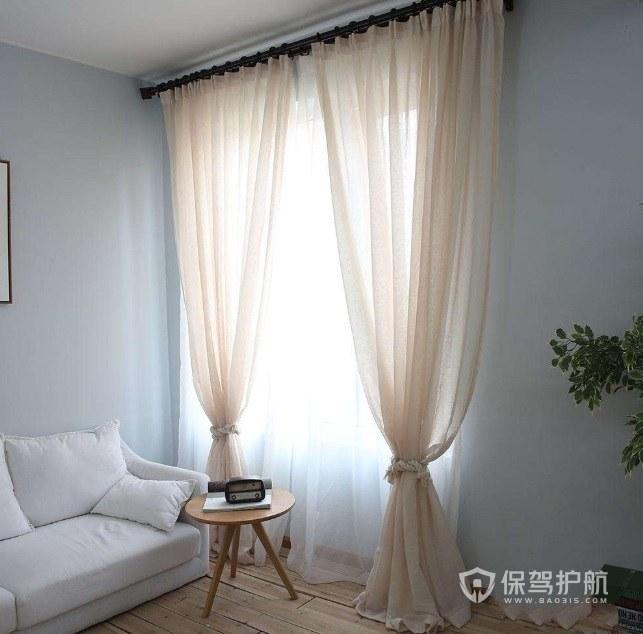 客厅安装落地窗帘有什么注意点?客厅落地窗帘效果图
