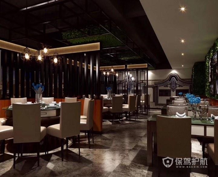 后现代简约餐厅装修效果图