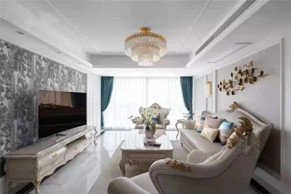 棕榈湾简约欧式风格三居室装修效果图…