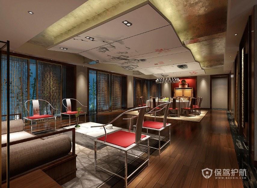 新中式简约餐厅装修效果图