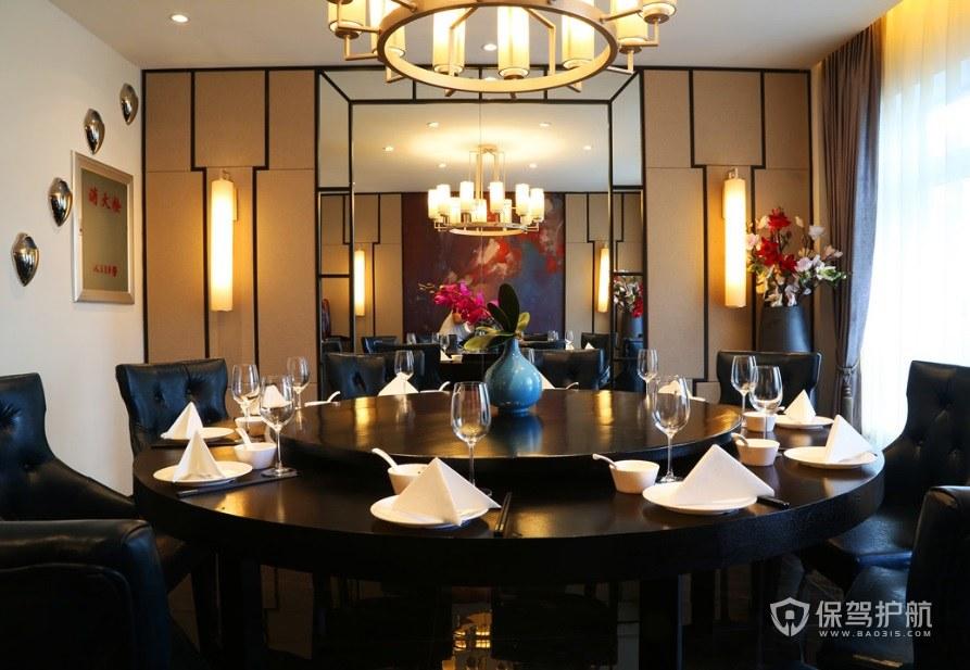 欧式轻奢餐厅装修效果图