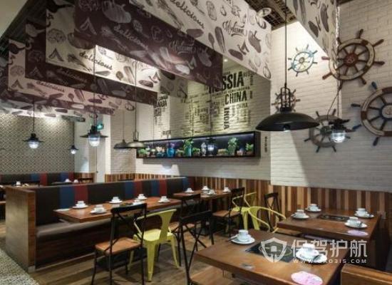 现代简约餐馆装修效果图