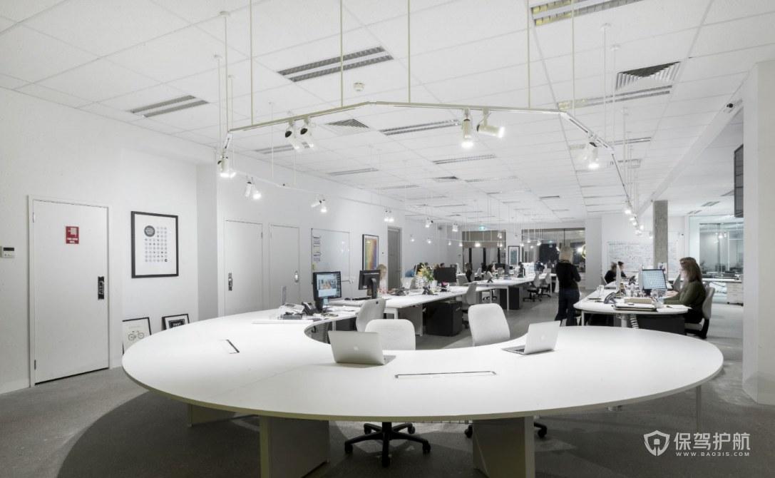 现代简约风格办公区装修效果图
