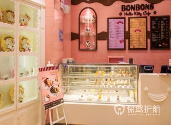 粉色简约风水甜品店装修效果图