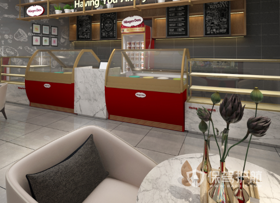 现代风格甜品店装修效果图