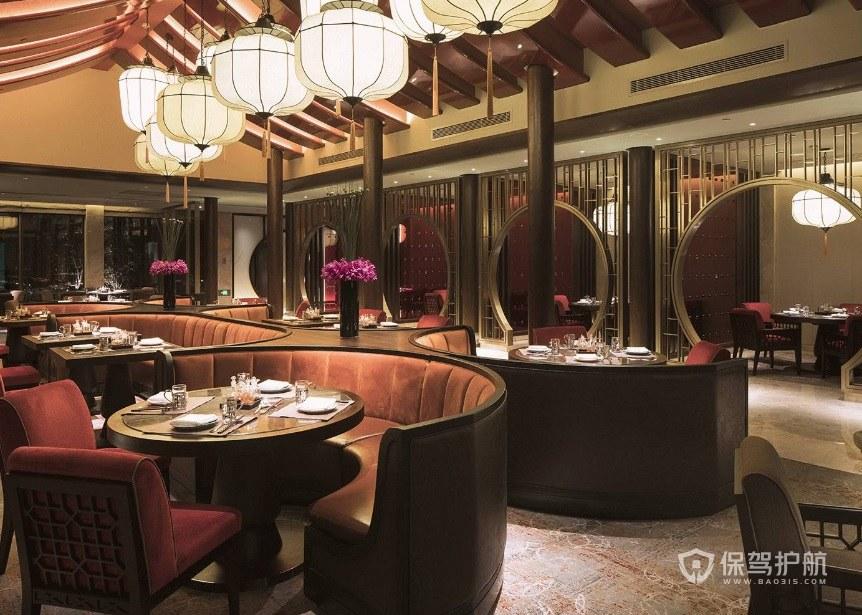 现代中式创意餐厅装修效果图