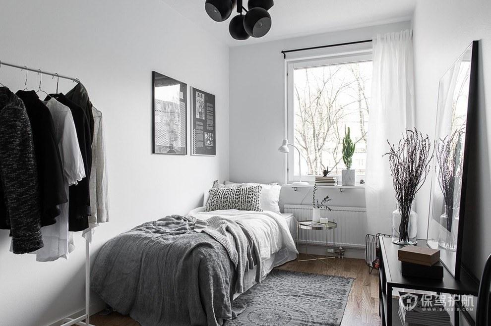 极简风卧室装修效果图-保驾护航装修网