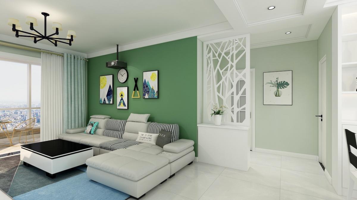 昆侖首府115平三居室現代簡約家裝效果
