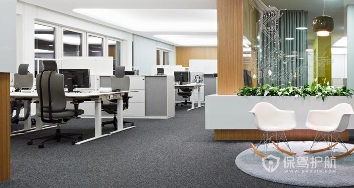 现代办公室装修效果图