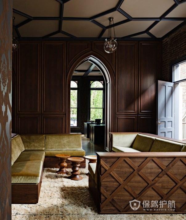 欧式古典风格办公室接待区装修效果图…