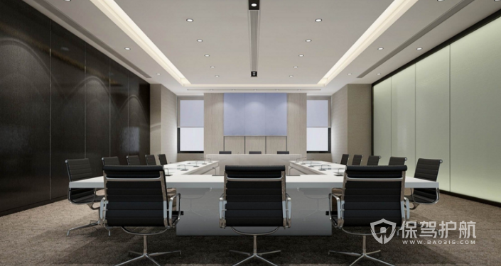 现代会议室装修效果图